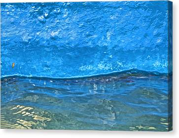 Blue Boat Abstract Canvas Print by David Letts