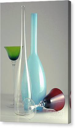 Canvas Print featuring the photograph Blue Bottle #2 by Elf Evans