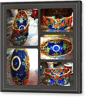 Blue Bowl Canvas Print