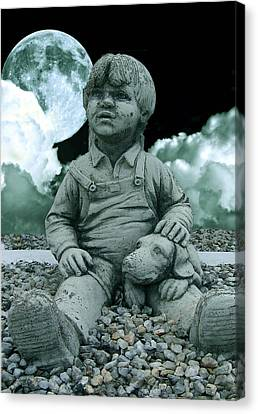 Blue Boy By The The Blue Moon Canvas Print by Allen Beilschmidt