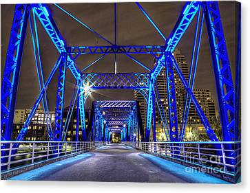 Blue Bridge Canvas Print by Twenty Two North Photography