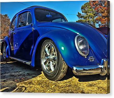 Blue Bug Canvas Print