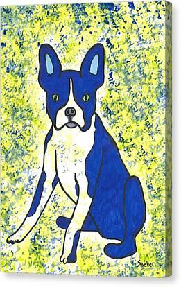 Blue Bulldog Canvas Print