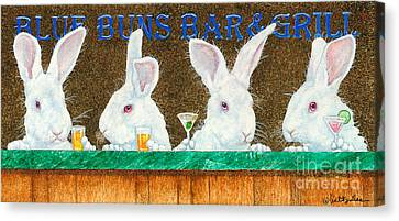 Blue Buns Bar And Grill... Canvas Print