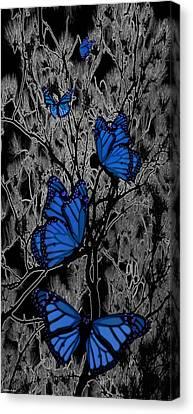 Blue Butterflies Canvas Print by Barbara St Jean