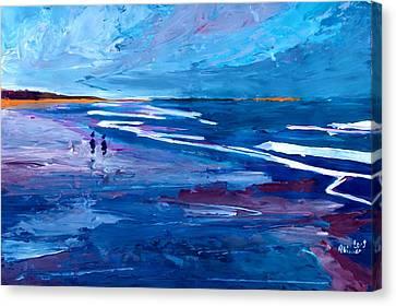 Blue Californian Seascape In Big Sur Canvas Print by M Bleichner