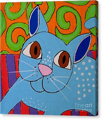 Blue Cat Canvas Print by Susan Sorrell