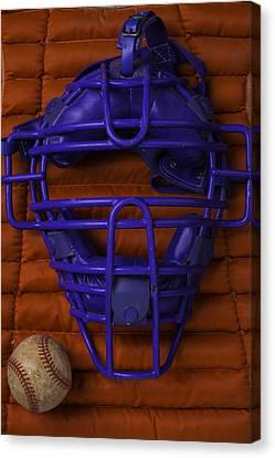 Blue Catchers Mask Canvas Print