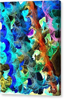 Blue Chain Canvas Print by Julio Haro