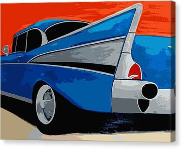 57 Chevy Canvas Print - 1957 Chevy Bel Air by Katy Hawk