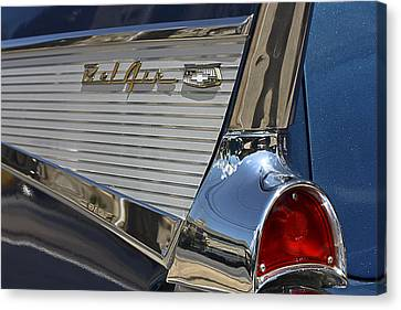 Canvas Print featuring the photograph Blue Chevy Bel Air by Patrice Zinck