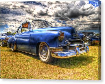 Blue Chevy Deluxe - Hdr Canvas Print