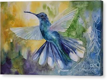 Blue Chitter Canvas Print