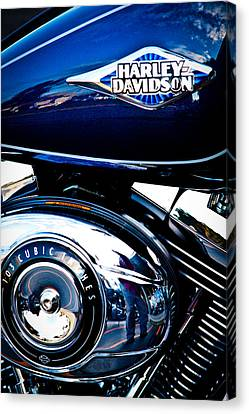 Blue Chopper Canvas Print by David Patterson