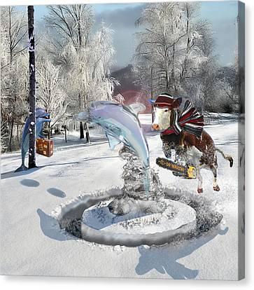 Missing Child Canvas Print - Blue Christmas by Douglas Martin