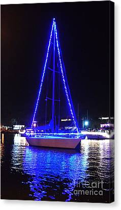 Canvas Print featuring the photograph Blue Christmas  by Laurie Lundquist