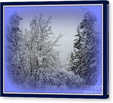 Blue Christmas Canvas Print by Leone Lund