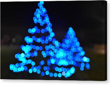 Blue Christmas Canvas Print by Steve Myrick