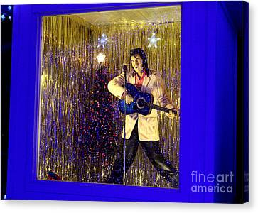 Blue Christmas Without Elvis Canvas Print by Kathy  White