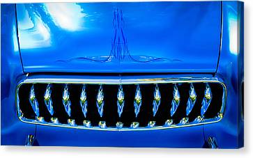 Blue Chrome Grill Canvas Print by Phil 'motography' Clark
