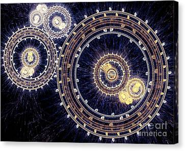 Blue Clockwork Canvas Print