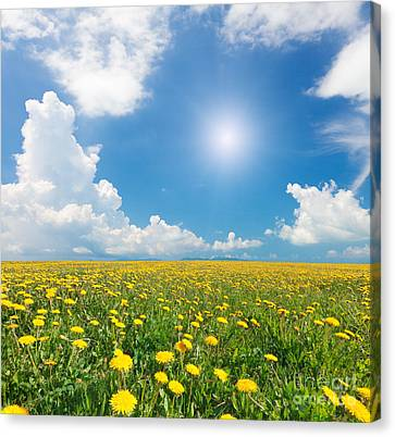 Canvas Print featuring the photograph Blue Cloudy Sky by Boon Mee