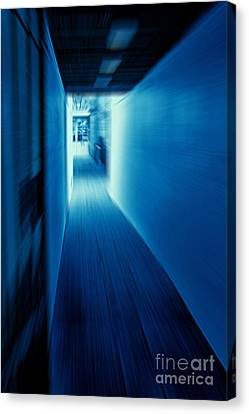 Blue Corridor Canvas Print