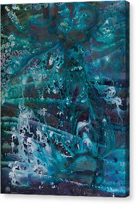 Blue Cosmos II Canvas Print