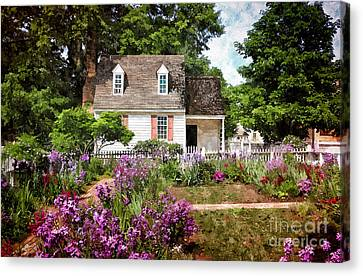 Blue Cottage Canvas Print