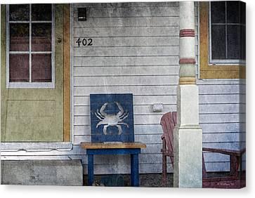Blue Crab Chair Canvas Print