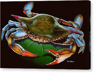 Blue Crab Open Claw Canvas Print by Phyllis Beiser