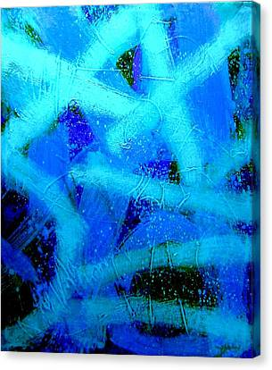 Blue Crescendo Canvas Print