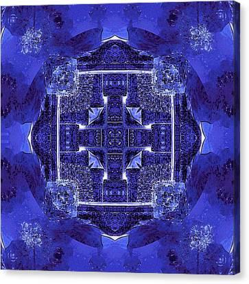 Blue Cross Radiance Canvas Print