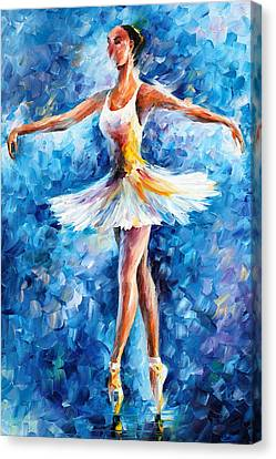 Blue Dance Canvas Print by Leonid Afremov