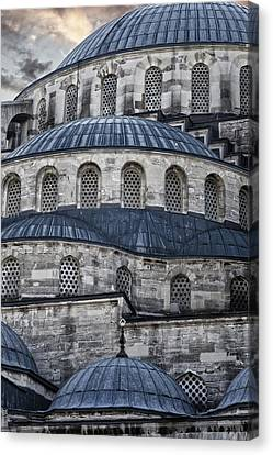 Muslims Canvas Print - Blue Dawn Blue Mosque by Joan Carroll