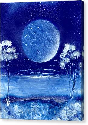 Blue Desert Night Canvas Print by Marc Chambers