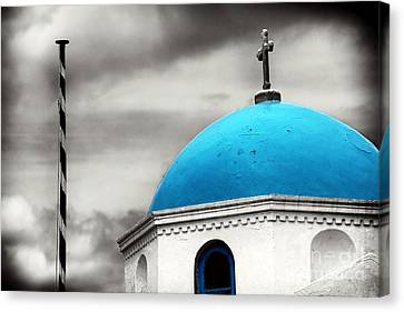 Blue Dome Fusion Canvas Print by John Rizzuto