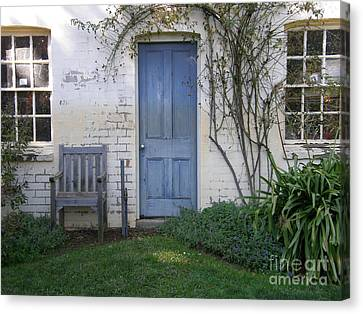 Canvas Print featuring the photograph Blue Door by Bev Conover