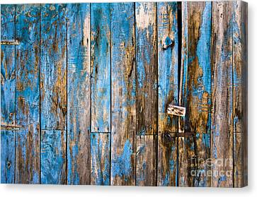 Blue Door Canvas Print by Delphimages Photo Creations