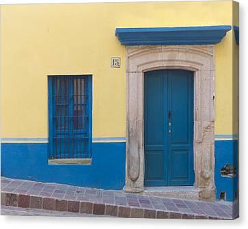 Blue Door Canvas Print by Douglas J Fisher