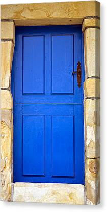 Blue Door Canvas Print by Frank Tschakert