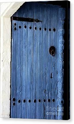 Blue Door In Ayios Neophytos Canvas Print