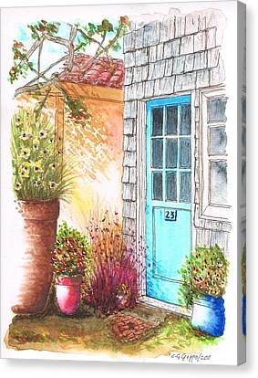 Blue Door In Venice Beach, California Canvas Print