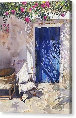 Cortijo Canvas Print - Blue Door by Margaret Merry