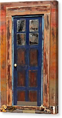 Blue Door Wyoming Canvas Print