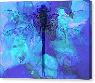 Dragon Fly Canvas Print - Blue Dragonfly By Sharon Cummings by Sharon Cummings