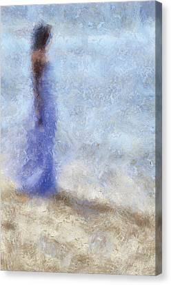 Blue Dream. Impressionism Canvas Print by Jenny Rainbow