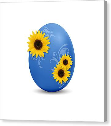 Blue Easter Egg Canvas Print
