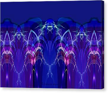 Blue Electric Sound - 913 Canvas Print