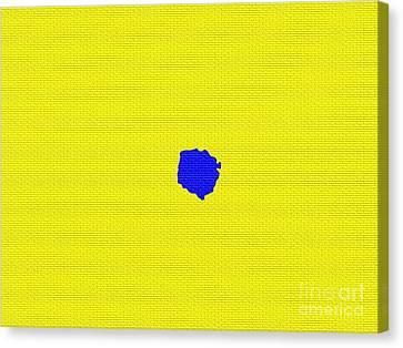 Blue Canvas Print by  Eliso Ignacio Silva Simancas